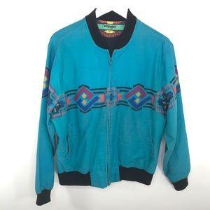 VINTAGE Wrangler Bushhopper Jacket Teal Blue Med